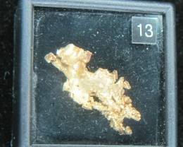 3.4 grams of crystalline gold from The Round Mountain Gold Mine Nevada USA