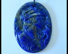 Natural Lapis Lazuli Carving Beauty Girl Pendant,41x30x4mm,45ct(17052901)