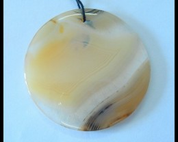 Natural Rare East Java Maganese Agate Round Pendant,43x5mm,73.5ct(17052905)