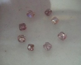 NATURAL ARGYLE PINK DIAMOND,0.85CTWLOT-8 PCS