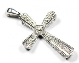 8.63Ct Stamped 925 Sterling Silver Natural Diamond Pendant Jewelry