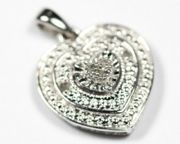 8.31Ct Stamped 925 Sterling Silver Natural Diamond Pendant Jewelry