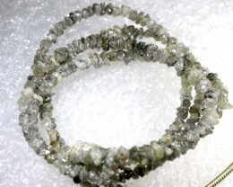 17CTS METALLIC SILVER GREY ROUGH DIAMOND STRAND SD-210
