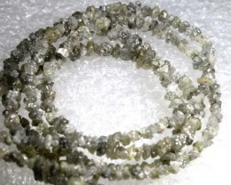 17CTS METALLIC SILVER GREY ROUGH DIAMOND STRAND SD-212