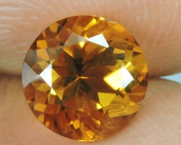 2.05 CTS TOP DAZZLING NATURAL ROUND CUT ULTRA RARE CITRINE NR!
