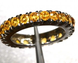 17.55 CTS CITRINE SILVER RING SG-2459