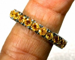 21 CTS CITRINE SILVER RING SG-2465