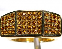 44.6 CTS CITRINE GOLD PLATED RING SG-2472