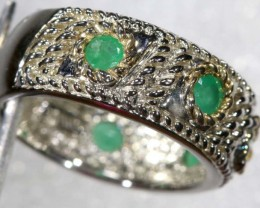 30.7 CTS CHRYSOPRASE RING SILVER SG-2475