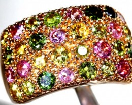 43.15 CTS  COLOURED QUARTZ GOLD PLATED RING   SG-2476