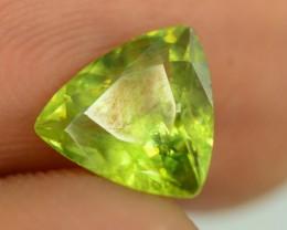1.40 ct Rare Full Fire Green Sphene Titanite Gemstone
