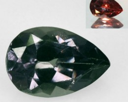 1.00 Cts Natural Color Change Garnet Green - Red Pear Tanzania