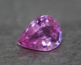 Natural pink sapphire.