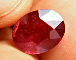 7.18 Carat Fiery Cherry Ruby - Superb