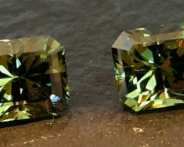 5.06 CTW DEMANTOID GARNET MATCHING PAIR - MASTER CUT!  VVS!