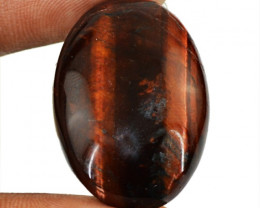 Genuine 35.70 Cts Oval Shape Red Power Tiger Eye Cab