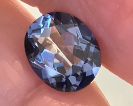 3.66ct Ink Blue flash Mystic Quartz gem VVS