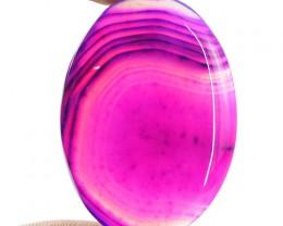 Genuine 57.00 Cts Oval Shape Pink Onyx Cab