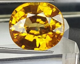 15.91cts, Certified Yellow Zircon,  Eye Clean,  Vivid Yellow