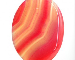 Genuine 132.95 Cts Oval Shape Pink Onyx Cab