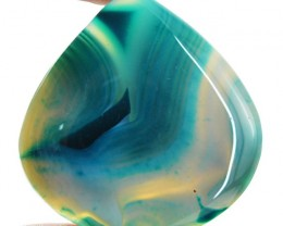 Genuine 112.45 Cts Pear Shape Blue Onyx Cab