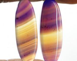Genuine 25.00 Cts Purple Onyx Oval Shape Pair