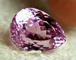 24.70 Carat Vibrant Violet Pink VVS Himalayan Kunzite - Superb