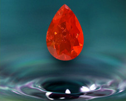 3.13 ct MEXICAN FIRE OPAL - MASTER CUT - CHERRY RED!