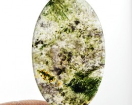 Genuine 39.30 Cts Moss Agate Untreated Cab