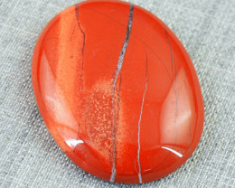 Genuine 38.00 Cts Oval Shape Red Jasper Cab