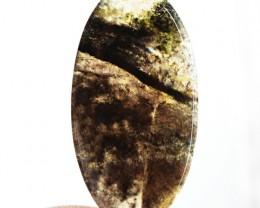 Genuine 62.50 Cts Oval Shape Moss Agate Cab