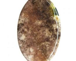 Genuine 30.50 Cts Oval Shape Moss Agate Cab  24 - IY6