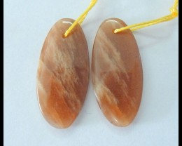 Natural Sunstone Jasper Earrings,26x12x4mm,19.5ct(17060316)