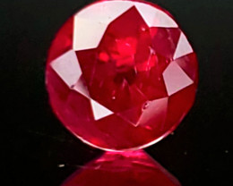 0.94ct Burma Ruby - Bright red!