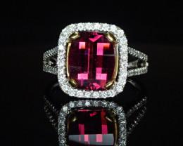 3.22ct Rhodolite Garnet Ring