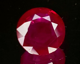1.04ct Burma Ruby 6.50mm Round