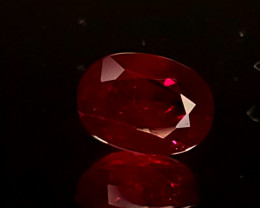.97ct Burma Oval Ruby