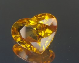 2.70ct Yellow Heart Sapphire