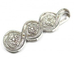 8.45Ct Stamped 925 Silver Natural Diamond Pendant Jewelry
