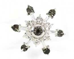 5.09Ct Stamped 925 Silver Natural Diamond Pendant Jewelry