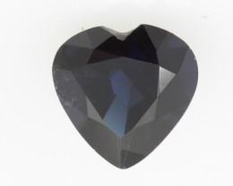 1.29cts Natural Australian Blue Sapphire Heart Shape