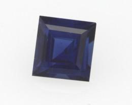 0.49cts Natural Australian Blue Sapphire Square Cut