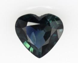 0.97cts Natural Australian Blue Sapphire Herat Shape