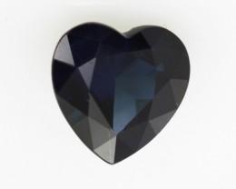 1.27cts Natural Australian Blue Sapphire Heart Cut