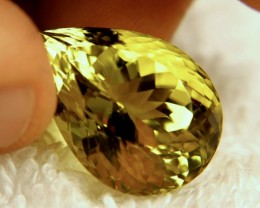 26.30 Carat Olive Yellow VVS1 Quartz - Gorgeous
