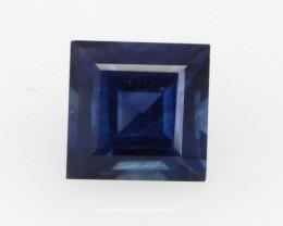 0.56cts Natural Australian Blue Sapphire Square Cut