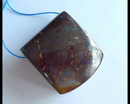 Natural Boulder Opal Blue Fire Pendant,29x25x13mm,115.5ct(17060502)