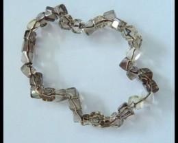 Natural Smoky Quartz Bracelet Beads,Charm Beads for Women,5x4mm,27ct,7cm in