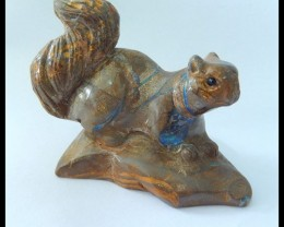 Natural Boulder Opal Handcarved Squirrel ,Animal Decoration,56x42x48mm,409.