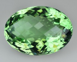 32.12 Cts Natural Green Amethyst/Prasiolite Oval Cut Brazil Gem